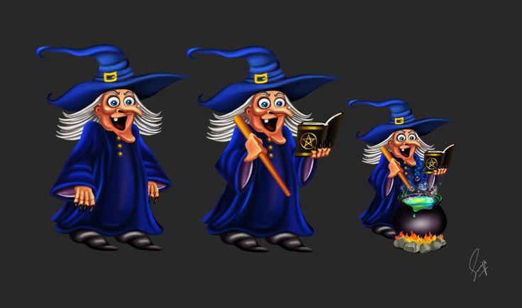 Witch with cauldron by Saniya Aslam