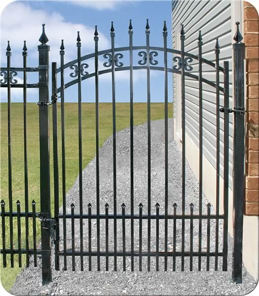 Arched Long Beach Iron Walk Gate  Fence-All