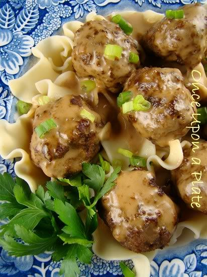 Once Upon a Plate: Swedish Meatballs ~ Alton Brown's Version