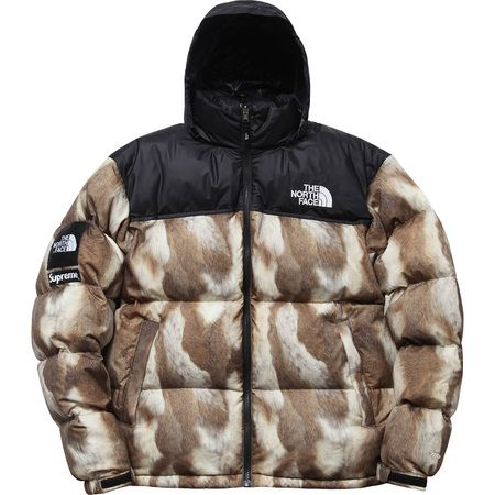 The North Face®/SupremeFur Print Nuptse Jacket