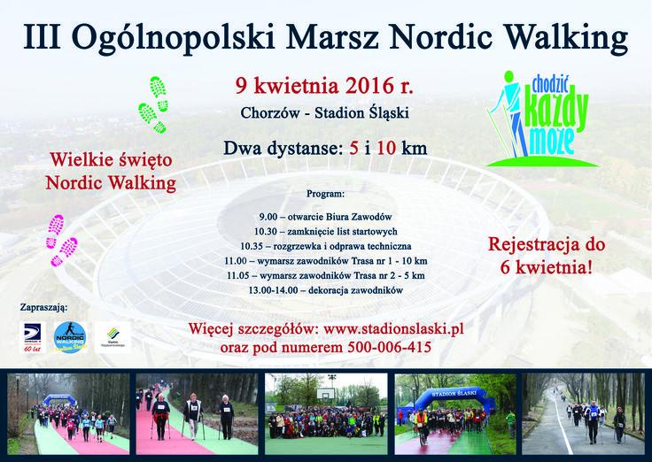 """Nordic Walking Portal Społecznościowy - III Ogólnopolski Marsz Nordic Walking """"Chodzić każdy może"""" - chodzę z kijami"""