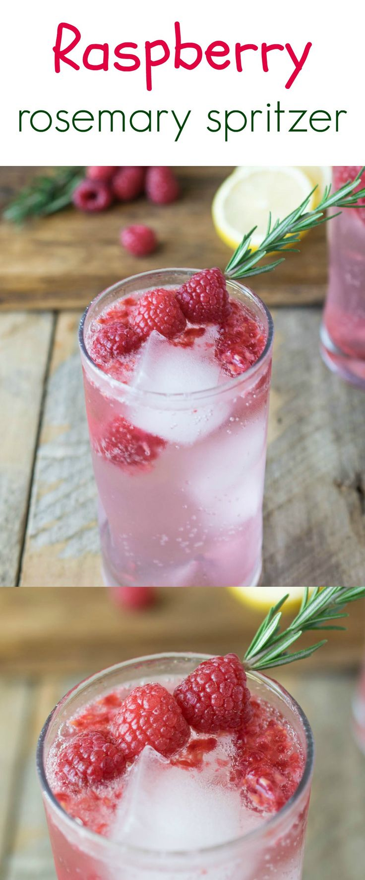 Raspberry rosemary spritzer is a fun mocktail that can be enjoyed all holiday season made with real ingredients. Fresh raspberries, rosemary and DASANI® Sparkling Berry. #NewWaytoSparkle #ad