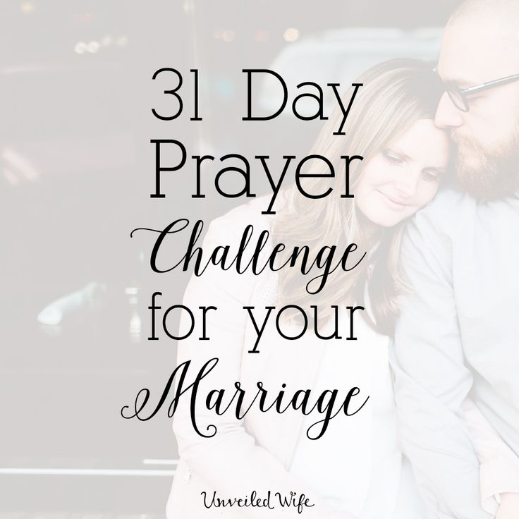 31 Day Prayer Challenge For Marriage