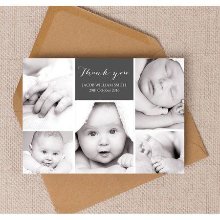birth announcement cards photo