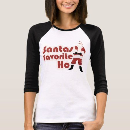 Santas Favorite Ho Funny Christmas T-Shirt - tap, personalize, buy right now!