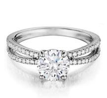 Henri Daussi diamond engagement ring