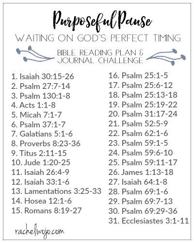 What happens when you feel like you're waiting on God? Join in the Purposeful Pause Bible reading plan & journal challenge!