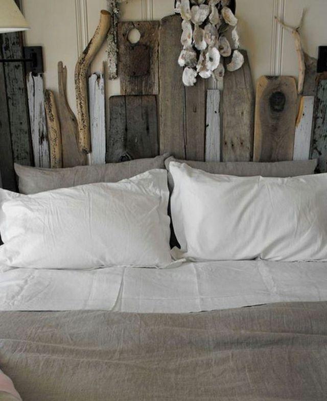 Influence de charme authentique pour cette tête de lit rustique