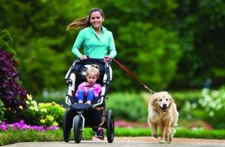 """7 Running Tips for Moms - Women's Running Magazine: Farel Hruska, national fitness director for Fit4Mom, says if kids are fussy in the stroller, """"Stop occasionally and do strength work (like pushups, squats and lunges) while you sing to your baby."""""""