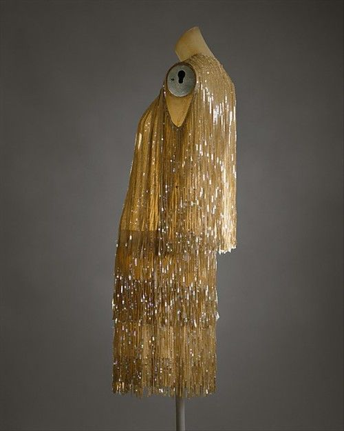Gold 1920s dress