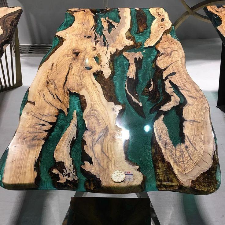 Epoxy-Tisch #epoxy #woodtable #epoxytable #diy #wood