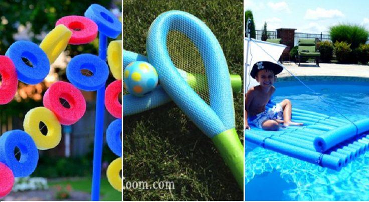 22 nouvelles idées à faire avec des nouilles de piscine!