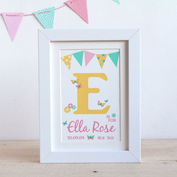 25 unique name frame ideas on pinterest baby box frame ideas girls butterfly name frame print personalised baby gift nursery art childrens room letters negle Choice Image