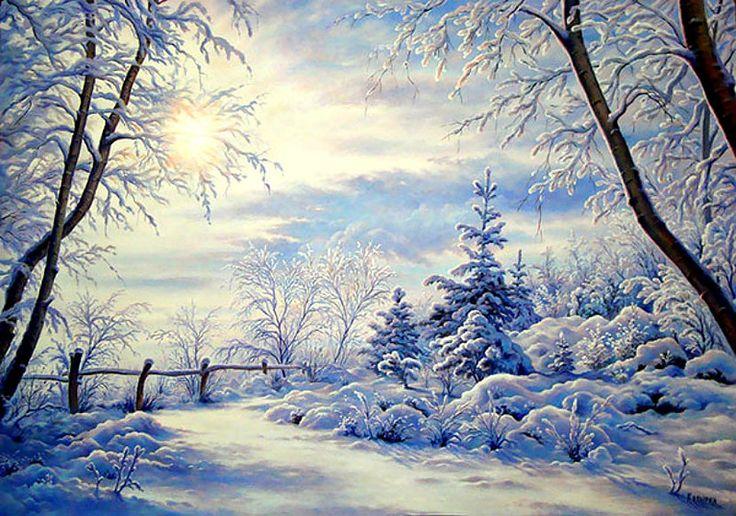 Анимационные открытки зимние январские
