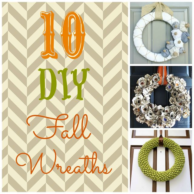 The one made with paper plates and cookie sprinkles is genius. #wreath #DIY #fall