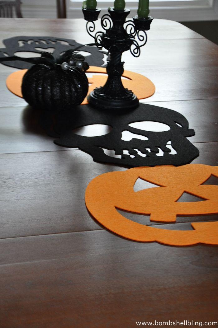 Halloween Felt Table Runner-4