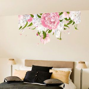 Peony Flower Vinyl Wall Stickers, Wall Art, Wall Decals, Wall Graphics