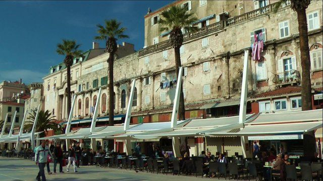 An Impression of the beautiful town in Croatia.  Split. Camera: Panasonic HDC-HS700