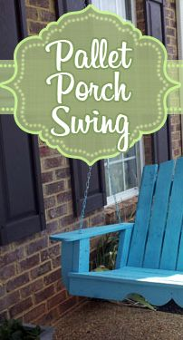 Pallet Porch Swing...save hundreds of dollars by just adjusting a regular porch swing plan!