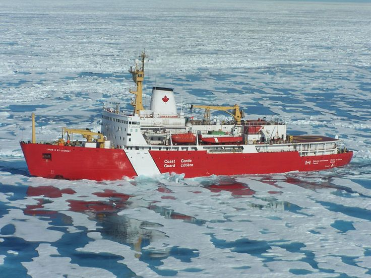 The biggest ship in the Canadian Coast Guard - an Ice Breaker called the Louis S. St. Laurant.  My Dad was the Captain on this ship!