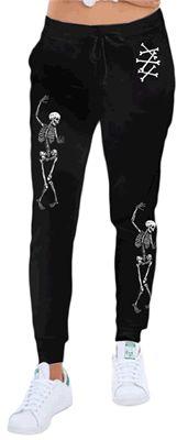 Rat Baby Skeletons & Crossbones Skinny Leg Goth Punk Alt Sweatpants #ratbaby #goth #gothic #alt #alternative #punk #punkrock #sweatpants #loungepants #gothsweatpants #gothicsweatpants #altsweatpants #alternativesweatpants #punksweatpants #skeleton