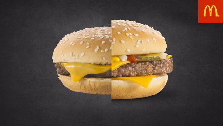 mcdonald's photo advertising vs. real burgers