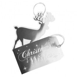 10 pack of luxury foil tags, a finishing touch for all those presents