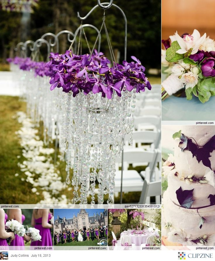 Purple Weddings Ideas: Lavender, Plum, Purple & Silver/Gray