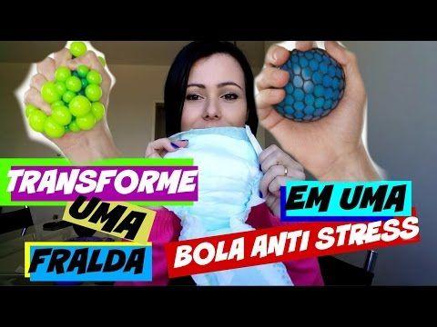 TRANSFORME UMA FRALDA EM UMA BOLA ANTI STRESS MUITO LEGAL -  STRESS BALL