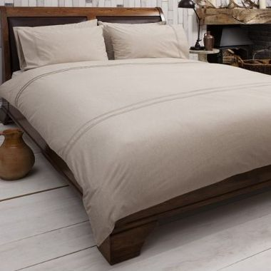 Kintyre Natural Quilt Cover Set, Available in 4 Sizes - Starting from £55 | brandinteriors.co.uk