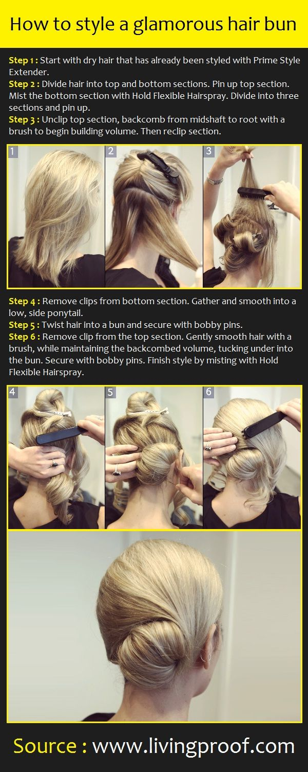 How to style a glamorous hair bun | Pinterest Tutorials