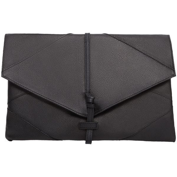 Leather Lapel Envelope found on Polyvore featuring bags, handbags, clutches, mango purse, leather handbag purse, leather purses, genuine leather purse and hand bags