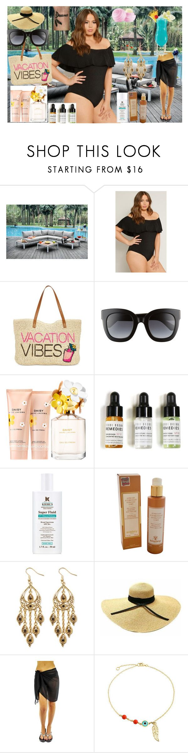 """""""""""Long Weekend ☀️🏝"""""""" by nova5ta5ia ❤ liked on Polyvore featuring INC International Concepts, Gucci, Marc Jacobs, Bobbi Brown Cosmetics, Kiehl's, Sisley, Palm Beach Jewelry, Bling Jewelry, Eos and TIKI"""