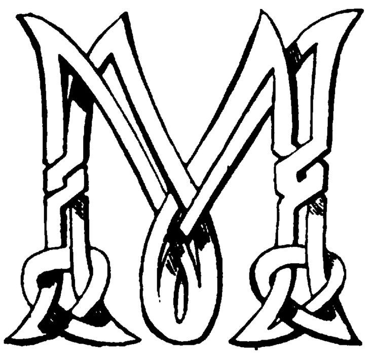 celtic letter m monogram - Google Search