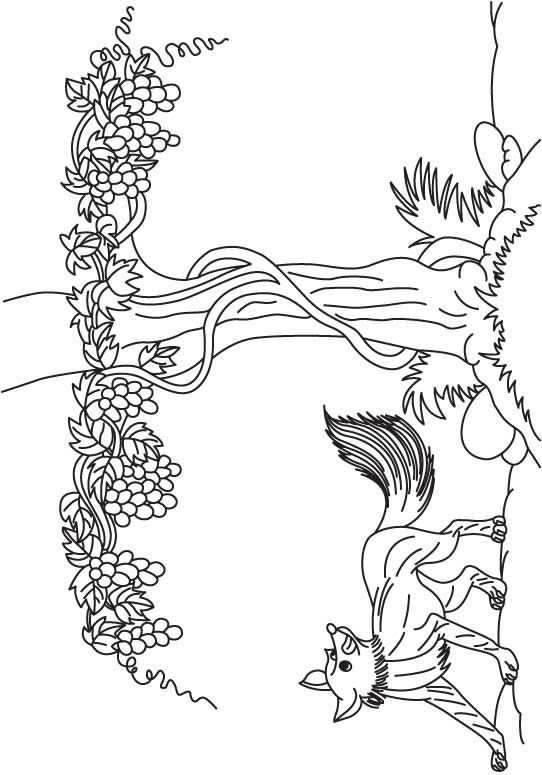 Grapes Are Sour (542×775) · Wild ThingsLanguage ArtsColoring