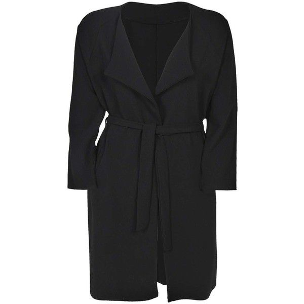 Boohoo Plus Lucy Trench Coat ($30) ❤ liked on Polyvore featuring outerwear, coats, plus size, womens plus coats, plus size trench coat, trench coat, plus size coats and womens plus size coats