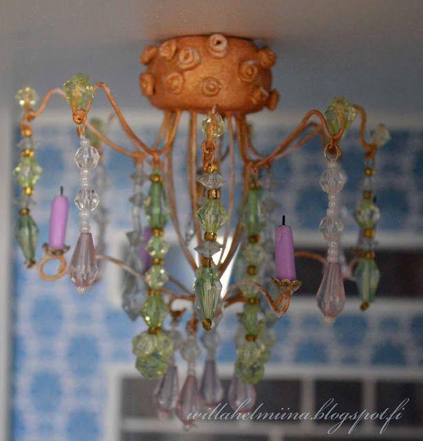 Diy dollhouse crystal lamp