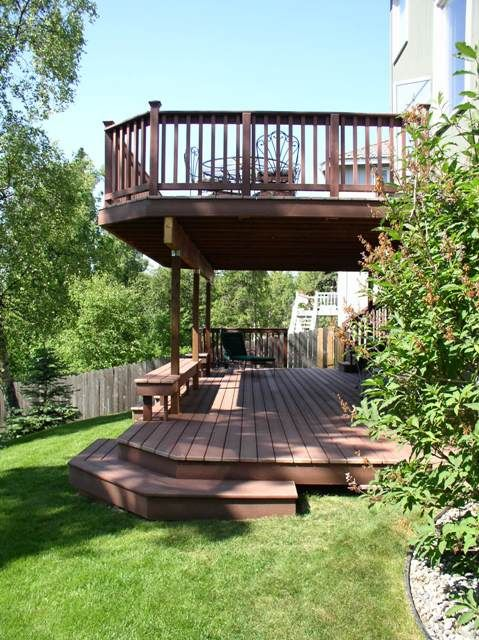 Deck design ideas trex cedar hardwood Alaskan0114 by alaskatreeline, via Flickr