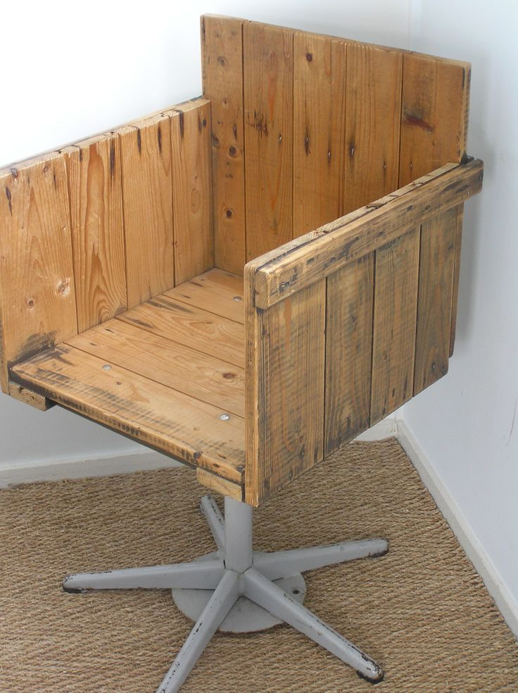 recycled vespa office chairs. wooden pallet stand from an old office chair u003d gardeneru0027s rest recycled vespa chairs