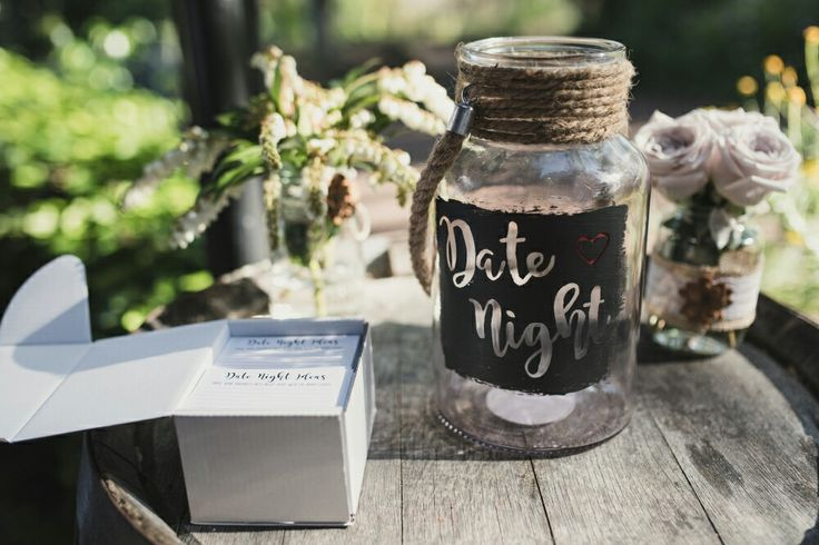 Hand etched Date Night ideas jar