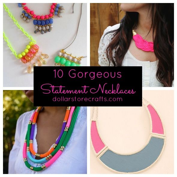 10 DIY Statement Necklaces