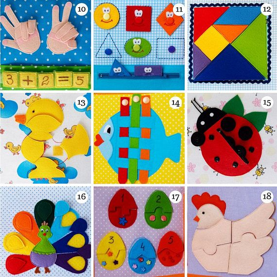 Farm Quiet Book Pages – Busy Book for Toddler and Preschooler, Felt Fabric Activity Book – Sensory Activity Toy for Kids of 2-3 year old