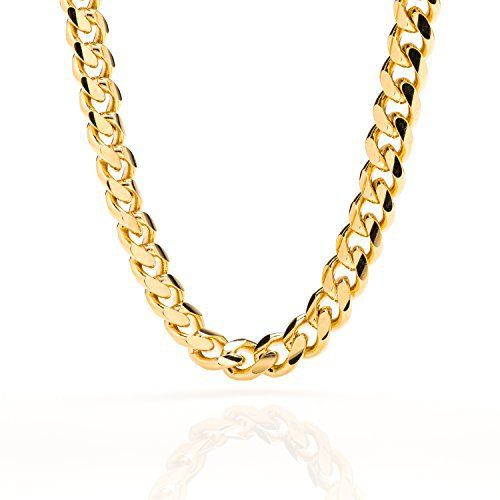 Men's #14k #Gold 9mm Cuban Chain #Necklace  Full review at: http://toptenmusthave.com/best-jewelry-for-men/