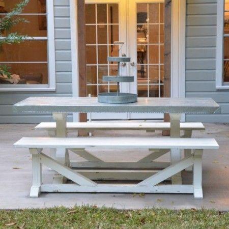 Galvanized Table Benches 1030x682 1 Harp Design Co