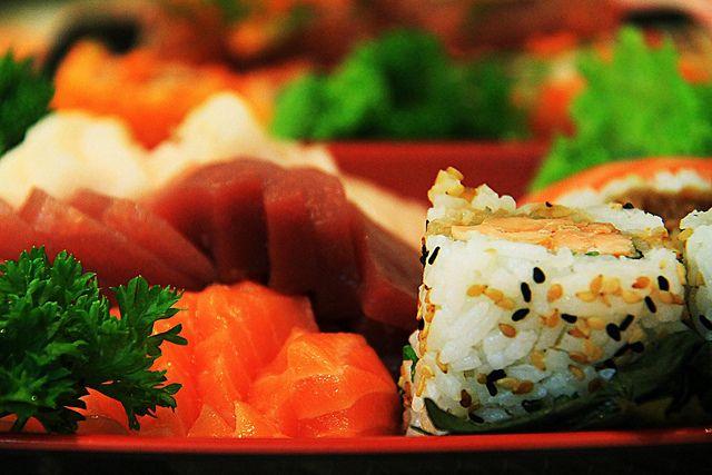 Sashimi And Uramaki by Marcelo_Maia, via Flickr