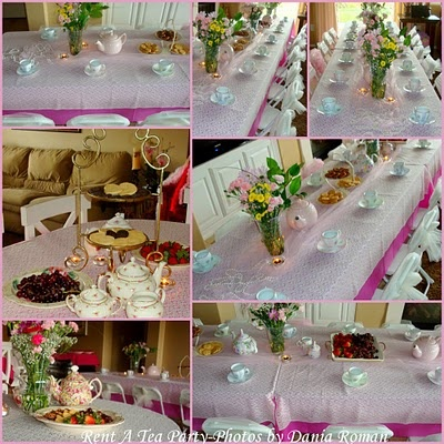 Setting up a table for a childs tea party