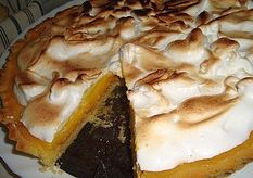 Tangerine Pie Recipe - made with the juice of tangerines and has a creamy citrus flavor. Topped with meringue.