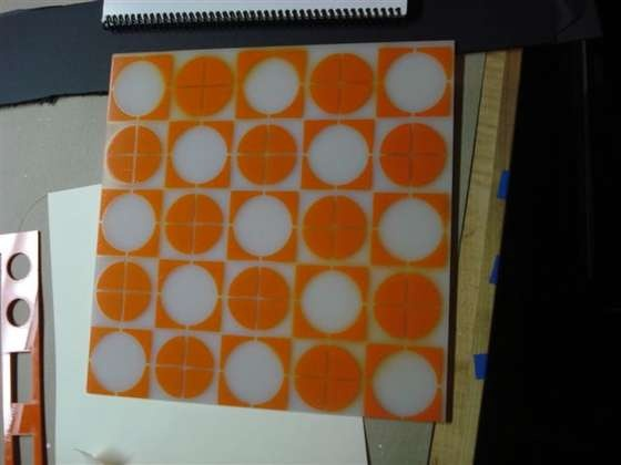Instructable for wall light stencilled on perspex sheet