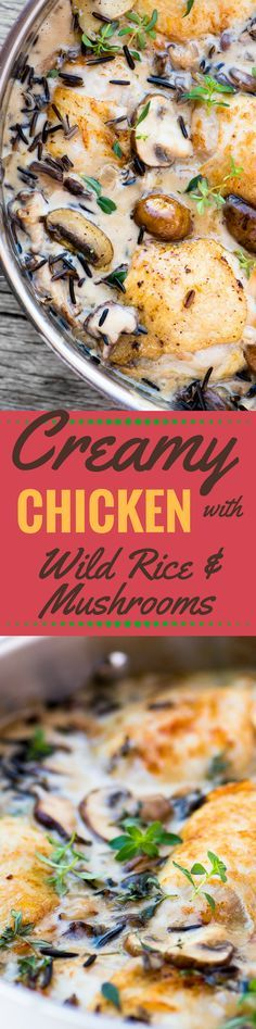 Creamy Chicken with Wild Rice and Mushrooms is the quintessential fall meal ~ theviewfromgreatisland.com