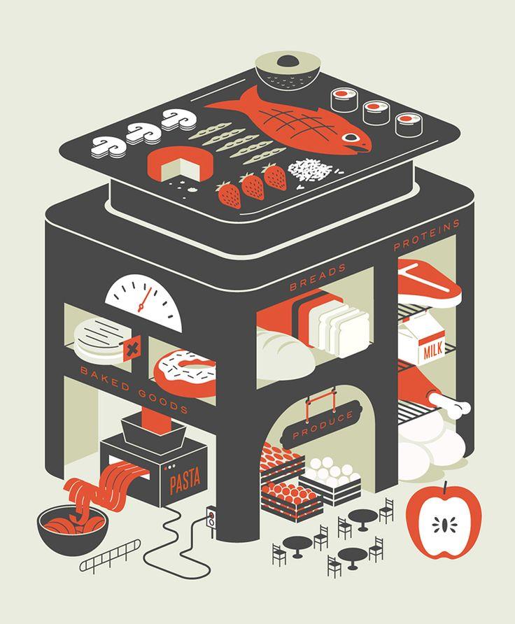 Editorial illustration for Bon Appétit / Mike McQuade